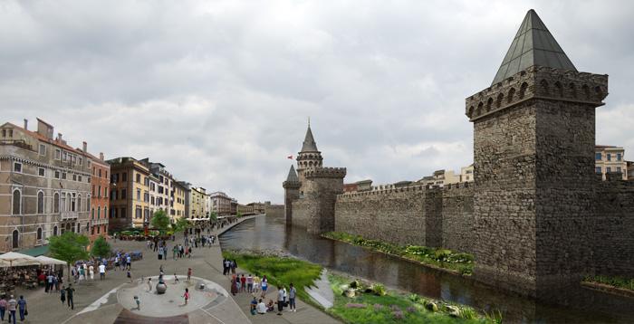Ilyen lehetett a Genovai falrendszer